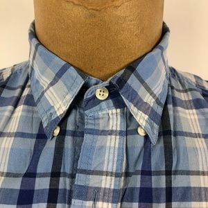Chaps Easy Care Mens Casual Shirt Checks Shirt